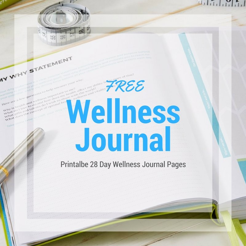 28 Day Wellness Journal Pages