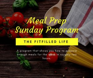 Meal Prep Sunday