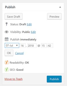 Schedule WordPress Blog Post